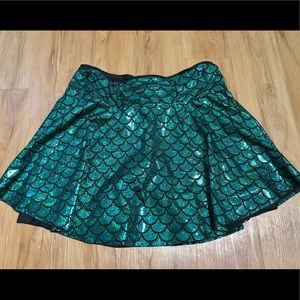 Mermaid Running Sparkle Skirt Plus Size